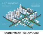transportation 3d city | Shutterstock . vector #580090900