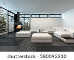 large mountain view apartment... | Shutterstock . vector #580092310