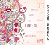 st valentine's day card can be...   Shutterstock .eps vector #580092706