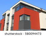 residential home with modern... | Shutterstock . vector #580094473