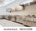 industrial kitchen | Shutterstock . vector #580101088