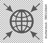 globe with arrows on the...   Shutterstock .eps vector #580110664