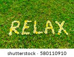 relax text word written with
