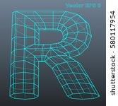 vector letter r stylized... | Shutterstock .eps vector #580117954