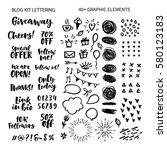 vector set of hand drawn...   Shutterstock .eps vector #580123183