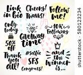 vector set of hand drawn... | Shutterstock .eps vector #580123234