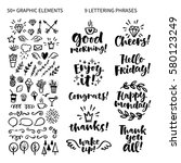 vector set of hand drawn... | Shutterstock .eps vector #580123249