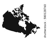 canada map icon. simple... | Shutterstock .eps vector #580128760