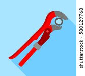 pipe or monkey wrench icon.... | Shutterstock . vector #580129768
