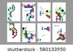 memphis geometric background... | Shutterstock .eps vector #580133950