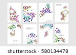 memphis geometric background... | Shutterstock .eps vector #580134478