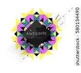 memphis geometric background...   Shutterstock .eps vector #580134490