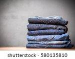 pile of jeans | Shutterstock . vector #580135810