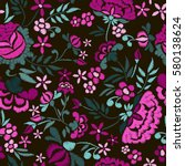 embroidery seamless pattern... | Shutterstock .eps vector #580138624