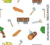 firewood pattern. cartoon... | Shutterstock . vector #580144420