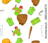 game with bat pattern. cartoon... | Shutterstock . vector #580144474