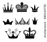 collection of vector crowns | Shutterstock .eps vector #580144750