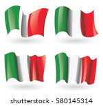 italy flag waving set | Shutterstock .eps vector #580145314