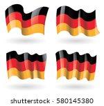 germany flag waving set   Shutterstock .eps vector #580145380