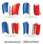 france flag waving set | Shutterstock .eps vector #580145464