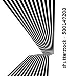 black and white mobious wave... | Shutterstock .eps vector #580149208