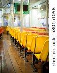seats on the passenger ship. ... | Shutterstock . vector #580151098