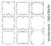 set border frame vintage old... | Shutterstock .eps vector #580159654