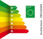 energy efficiency rating and...   Shutterstock .eps vector #580160683