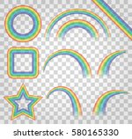 color rainbow isolated on a... | Shutterstock .eps vector #580165330