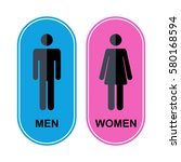 men and women icon.toilet icon... | Shutterstock . vector #580168594