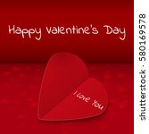 happy valentines day hand... | Shutterstock .eps vector #580169578