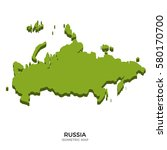 isometric map of russia... | Shutterstock . vector #580170700