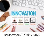 innovation  business concept.... | Shutterstock . vector #580172368