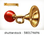 vehicle horn 3d vector icon | Shutterstock .eps vector #580174696