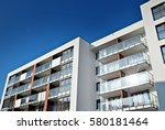 modern apartment buildings | Shutterstock . vector #580181464
