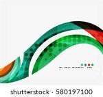business corporate wave... | Shutterstock .eps vector #580197100