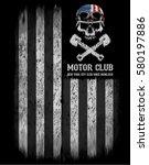 motorcycle tee graphic design | Shutterstock .eps vector #580197886