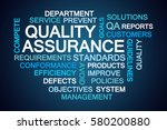 quality assurance word cloud on ... | Shutterstock . vector #580200880