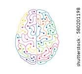 neuron electric human brain...   Shutterstock .eps vector #580201198