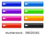 fish icon on long button... | Shutterstock .eps vector #58020181