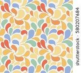 vector seamless pattern of... | Shutterstock .eps vector #580207684
