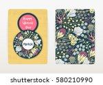 8 march. happy women's day.... | Shutterstock .eps vector #580210990