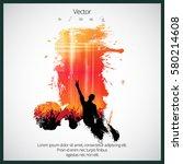 silhouette of dancing people | Shutterstock .eps vector #580214608