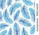 template seamless pattern with... | Shutterstock .eps vector #580214650