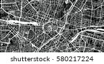 vector city map of munich ... | Shutterstock .eps vector #580217224
