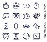 time vector icons. set of 16... | Shutterstock .eps vector #580217509