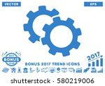 cobalt gears icon with bonus... | Shutterstock .eps vector #580219006
