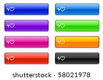 pulse heart rate icon on long... | Shutterstock .eps vector #58021978