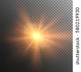 sun vector on transparent... | Shutterstock .eps vector #580219930