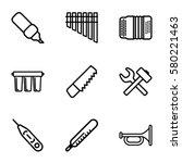 instrument vector icons. set of ... | Shutterstock .eps vector #580221463